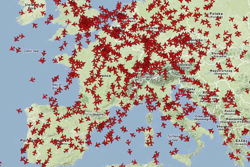 come controllare il traffico aereo