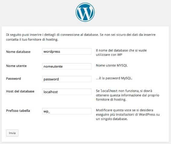 come creare sito wordpress