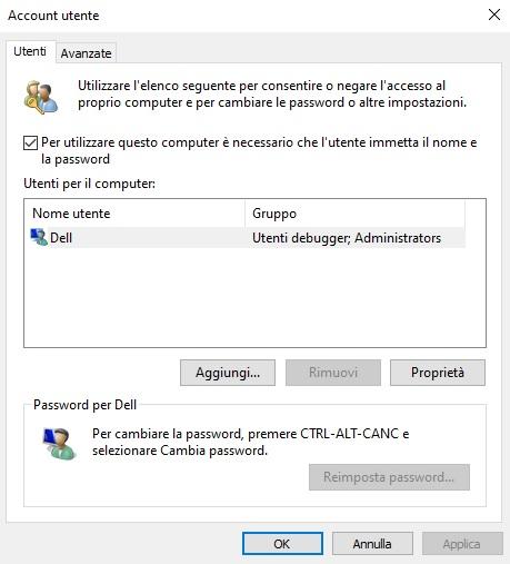 come modificare un account utente Windows