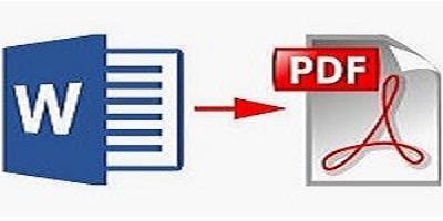 come convertire file word in pdf