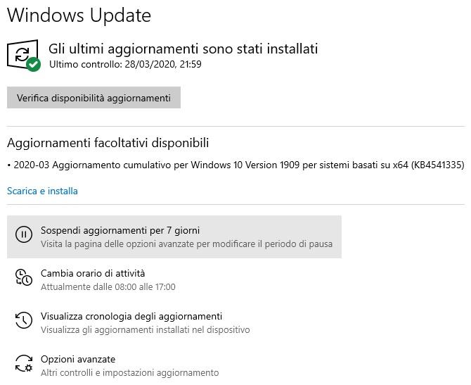 come disattivare gli aggiornamenti automatici di windows